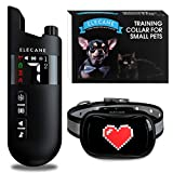 Mini Training Collar for Small Dogs 5-15lbs - Rechargeable Pet Obedience Trainer with Remote Control - Waterproof, 1000-Foot Range - Beeping Sound & Vibration Mode - 6 to 26-Inch Adjustable Strap