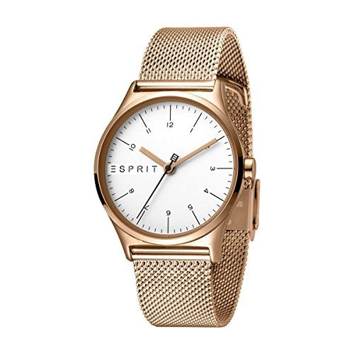 Esprit Damen Analog Quarz Uhr mit Edelstahl Armband ES1L034M0085