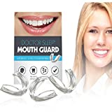 Mouth Guard for Grinding Teeth – Night Guard for Clenching - Eliminates TMJ and Bruxism! Includes Three Custom Fit Professional Dental Guards