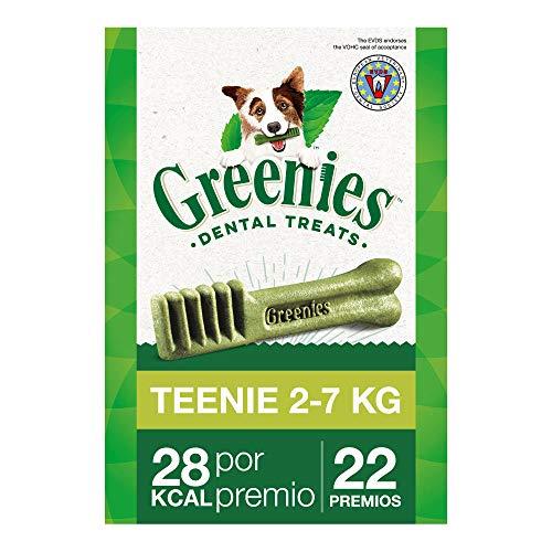 Snack dental Greenies Teenie para perros toy, bolsa de 170g (Pack de 6)