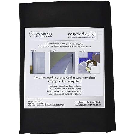 Easyblackout Kit de store occultant avec fixations auto-adhésives Velcro® Noir Taille 1 100 x 135 cm