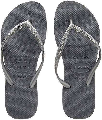 Havaianas Slim Crystal Glamour SW, Chanclas para Mujer, Gris (Steel Grey), 33/34 EU