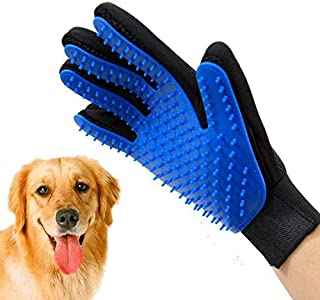 Pet Grooming Glove - Dog Brush Deshedding Glove Pet Hair Remover Pet Mitt Massage Tool for Dogs,Cats,Horses,Small Animals ...