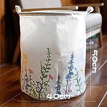 DSHUJC Laundry Basket Cotton Linen Dirty Clothes Basket Toys Debris Snack Storage Basket, Color 40 * 50Cm