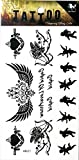 PP TATTOO 1 Sheet Vintage Goddess Cubic Angel Wings Waterproof Tattoos Stickers Pattern Style Henna Make up Neck Shoulder Upper arm Thigh Body Art Tattoo for Women Men Sexy Fake