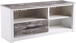 Ashley Furniture Signature Design - Evanni TV Stand - 59 Inch - Fireplace Option - White & Gray