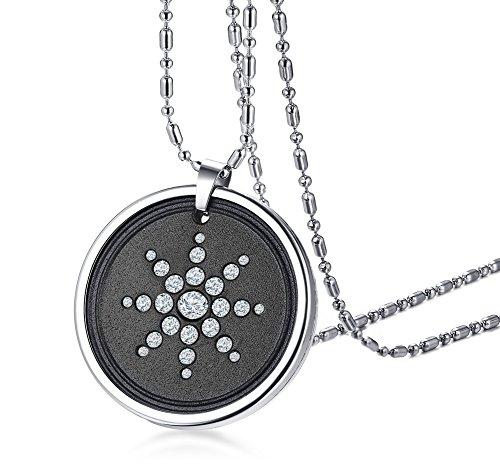 VNOX Lava Bio Scalar Energy Quantum Kristall Anhänger Halskette Gesundheitswesen für Männer Frauen,freie Kette & Box