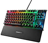SteelSeries Apex 7 TKL - Teclado mecánico para Gaming, Compacto, Display OLED, Interruptores Azul, Teclado QWERTY Inglesa (UK)