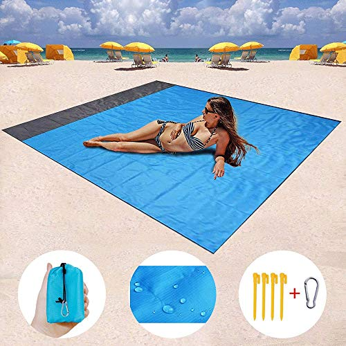 New DFRgj Beach Blanket Waterproof Quick Drying Compact Outdoor Picnic Mat Ideal for Travel, Hiking,...
