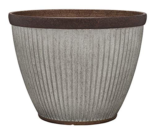 Southern Patio HDR-046868 20.5' Rustic Resin Faux Galvanized Round Planter