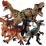 6PC Dinosaurs Action Figures for Kids,Tarbosaurus Indoraptor Pterosauria Pachycephalosaurus Dilophosaurus Velociraptor Dinosaur Birthday Party Supplies for Boys Age 3 4 5 6 7 Gift (6PCS Set 1)