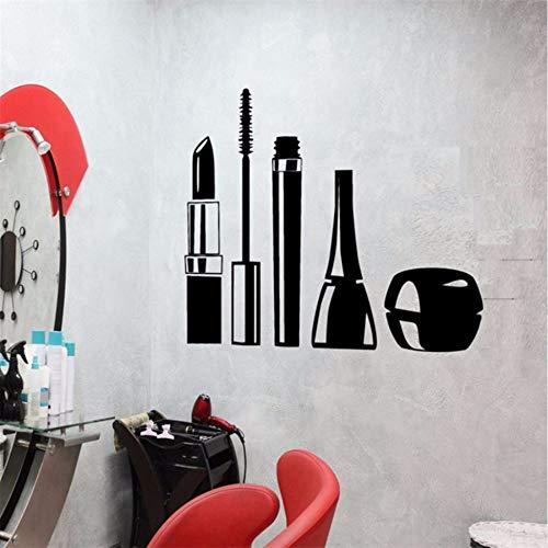 Yologg 37X57 Cm Cosmétiques Maquillage Fille Vinyle Sticker Design Étanche Stickers Muraux Mascara Rouge À Lèvres Femme Décor Pour Salon De Beauté