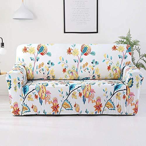 YYBF Funda de sofá Gris Fundas para Muebles elásticas Fundas de sofá elásticas para Sala de Estar Funda de Asiento con Funda Deslizante Sofá de Spandex 1-4 plazas, Color 7,4-Seater (235-300cm)