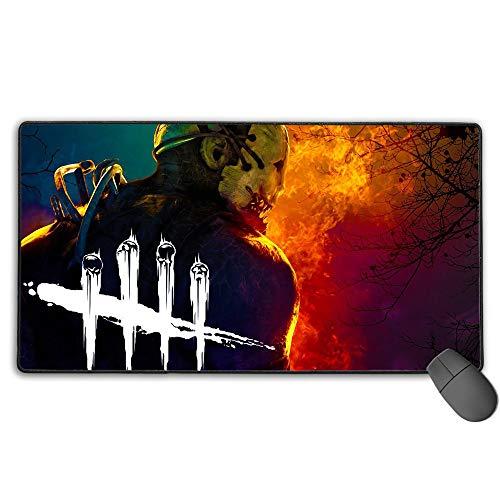 Alfombrilla de ratón profesional para juegos de terror Game Terror Asesino Trapper de tamaño extendido Dead by Daylight para teclado de ordenador, ultra gruesa, 3 mm x 31.5 pulgadas