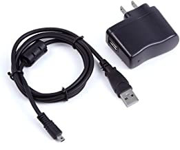 yan USB AC Power Adapter Battery Charger Cord for Olympus SZ-15 VR-370 VG-190 Camera