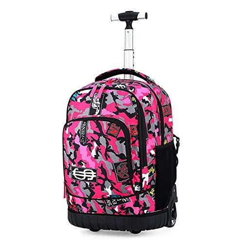 RMXMY Back Pull Doble Uso Escuela Primaria Junior High School Trolley Bolsa Niños y niñas Viajes Equipaje Reducción de la Carga Mochila de Viaje de Gran Capacidad (Color : G)