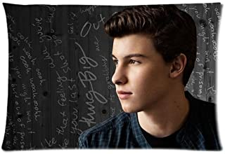 Custom Shawn Mendes Home Decorative Pillowcase Pillow Case Cover 20x30 Two Sides Print