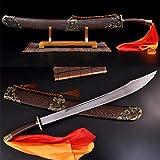 GLW Katana 38' Martial Arts Training Broad Sword Damascus Steel Blade Chinese Kung Fu Dao