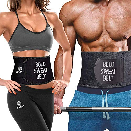 Boldfit Sweat Slim Belt Neoprene Body Shaper and Tummy Trimmer for Men & Women Supports Weight Loss & Lower Back Support (Large - Upto 50 inches)