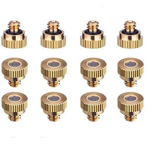 12pcs Ugelli Nebulizzatori in Ottone,Ugelli Nebulizzatori per il Controllo,Ugello di nebulizzazione per ottone, per sistema di raffreddamento esterno, irrigazione da giardino, sprinkler per umidificaz
