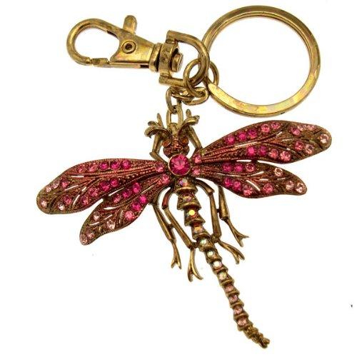 Acosta - tono de oro y rosa Cristales de Swarovski - de libélulas Tropical de adorno para el bolso/llavero/Accessory - caja de regalo