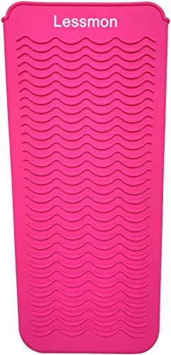 """Heat Resistant Mat Pouch for Curling Irons, Hair Straightener, Flat Irons and Hair Styling Tools 11.5"""" x 6"""", Food Gra..."""