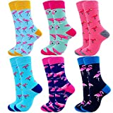 Jielucix Bunte Socken Damen Flamingo Lustige Witzige Baumwoll Geschenke 39-42