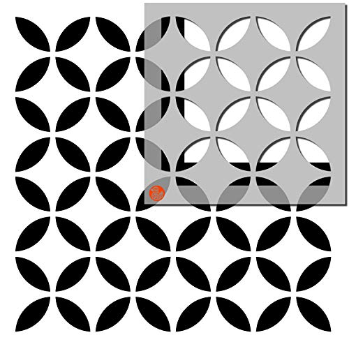 Pack of Two - Tile Stencils - Dizzy Duck Designs - Tsunagi - Custom Sizing Available - 12' (305mm) Multi Tile pk