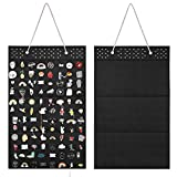 AROUY Wall Hanging Brooch Pin Display Organizer - Enamel Pin Display and Brooch Collection Storage Holder for Women or Men, up to 96 Pins (Organizer Only) (Black)