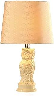Lampe en céramique méditerranéenne Chambre Lampe de Chevet Moderne Minimaliste Pastorale Hibou Lampe Mode créative Lampe d...