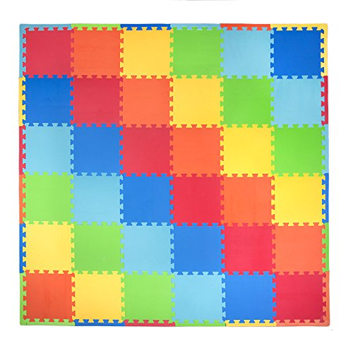 Tadpoles 36 Piece Playmat Primary Set, Multi