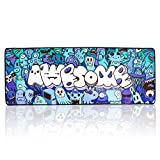 Mouse Pad Extended Large Gaming Mouse Pad Graffiti Anime Mousepad Mouse Mat for Laptop, Computer & PC (B-31.5