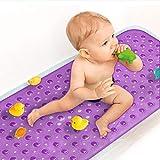 Sheepping Duschmatte Kinder Badewannenmatte rutschfest, Antirutschmatte Badewanne mit Saugnapf, PVC Badewannenmatte, Maschinenwaschbar Duschmatten BPA Frei 101,6 x 40,6cm (Lila)