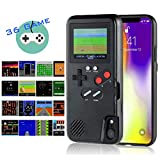 Gameboy iPhone Case Handheld Game Console Case Protective Cover, AISALL Gameboy Phone Case for iPhone 6/7/8 Plus iPhone X XR XS Max with 36 Classic Retro Games & Full Color (Black, iPhone Xs Max)