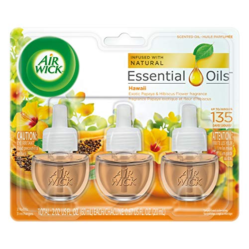 Air Wick Scented Oil Air Freshener, National Park Collection, Hawaii Scent, Triple Refills, 0.67 Ounce (Pack of 2)