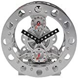 Double Gear Hollow Clock, Simple Mechanical Appearance Gear Table Clock, Creative Decorative Ornaments