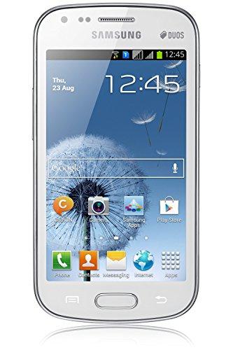 Samsung Galaxy S Duos GT-S7562 10,2 cm (4 Zoll) 0,75 GB 4 GB Dual-SIM Weiß 1500 mAh - Smartphones (10,2 cm (4 Zoll), 0,75 GB, 4 GB, 5 MP, Android 4.0, Weiß)