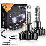 Ampoule H1 LED,WZTO 12000LM Super Bright Phares pour Voiture,Ampoules Auto de Rechange pour Lampes Halogènes et Kit Xenon,IP65 Etanche,Puce CSP, 12V-24V,6500K lumière Blanche Ampoules(2Pcs)