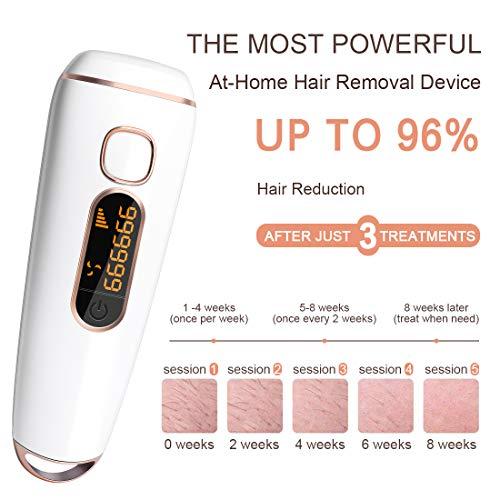 IPL Haarentfernungsgerät 999999 Blitze Laser Rasierer Haarentfernung für Frauen und Männer,Dauerhafte und schmerzlose Haarentfernung für dKörper Gesicht Bikini-Zone Achseln