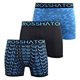 Crosshatch Mens Boxers Shorts Multipacked 3PK Underwear Gift Set 3 Pack Saunton(L,Blue)