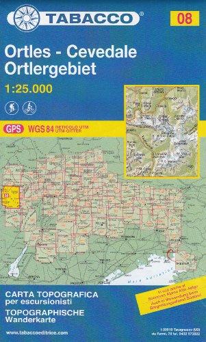 08 Ortles – Cevedale – Marmolada 1:25.000, topographische Wander-, Rad-und Skitouren Karte (Dolomiten, Alpen)