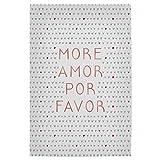 artboxONE Poster 60x40 cm Typografie More Amor Rose Gold