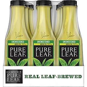 Pure Leaf Iced Tea, Unsweetened Green Tea, 18.5oz Bottles (12 Pack)