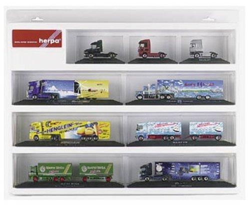 herpa 029247 - Schaukasten für PC-Zugmaschinen und Auflieger, 57 x 45 x 8 cm, weiß