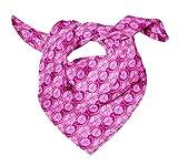 Bimba Rosado tresillo tie-dye Pañuelos de seda impresos para el cuello de la bufanda del pelo del verano del abrigo puro 40 x 80 Pulgadas