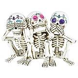 Nemesis Now Figura de Esqueleto de Calaveras de Tres Sabios