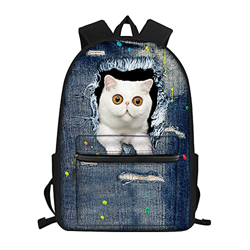BSDCF Mochila Escolar Cat Anime Boy Girl,Niños Adolescente Laptop Mujeres Hombres Mochila Casual Travel Mochila,16 Pulgadas