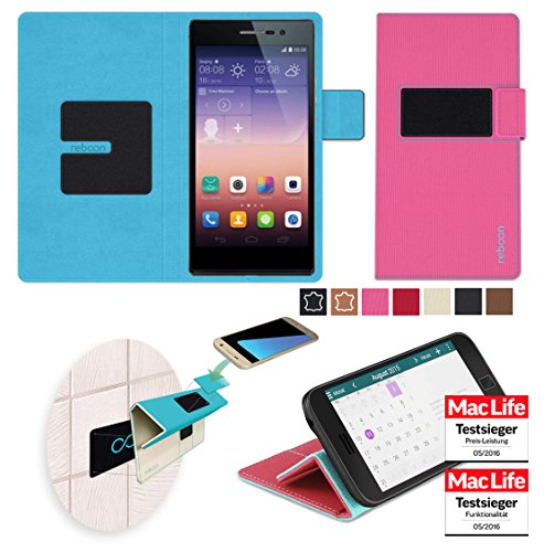 reboon Custodia per Huawei Ascend P7 | in Rosa | Cover Case Caso...