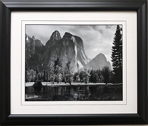 Ansel Adams  Cathedral Rocks Newly Custom Framed Art Approx. Image Size: 12.5  x 10  Approx. Framed Size: 20  x 16