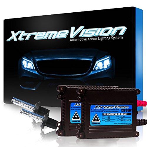 Xtremevision 35W Xenon HID Lights with Premium Slim Ballast - H7 5000K - 5K Bright White - 2 Year Warranty